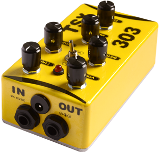 tsx 303 V3 distortion in out overdrive effect pedal